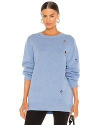Helmut Lang Jersey oversized - Azul