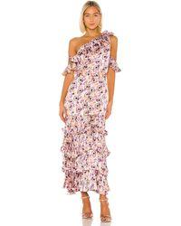 Alexis Вечернее Платье Amonda В Цвете Lilac Beaded Floral - Purple. Размер M (также В S,xs). - Многоцветный