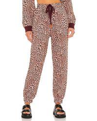 The Upside Leopard パンツ - ブラウン