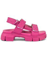 Ganni Sport Sandal - Pink