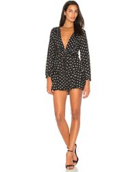 Lioness - Amalfi Polka Dot Dress In Black - Lyst