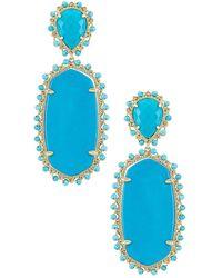 Kendra Scott Pendiente parsons - Azul