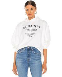 AllSaints Coordinates Talie Hoodie - White