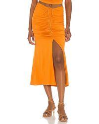 House of Harlow 1960 X Sofia Richie Sunnie Midi Skirt - Orange