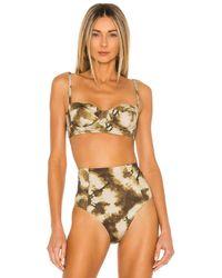 Ulla Johnson Zahara Bikini Top - Green