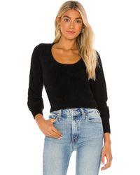 MAJORELLE Daunen-Sweater - Schwarz