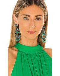 Ranjana Khan Embellished Drop Earrings - Blau