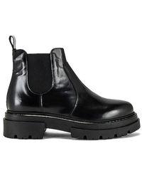 Free People Lola Lug Sole Chelsea Boot - Black