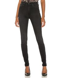 7 For All Mankind The High Waist スキニー - ブラック