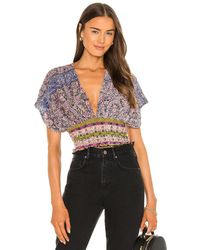 Free People Next Vacation トップ - パープル