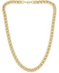 Loeffler Randall Tiana Twisty Chain Necklace - Metallic