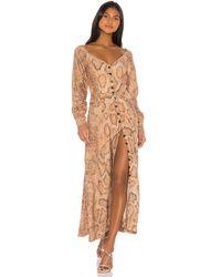 Mara Hoffman Макси Платье Silvana В Цвете Насыщенный Песочный - Коричневый