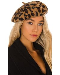 Hat Attack Leopard Beret - Brown