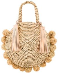 Loeffler Randall - Straw Circle Tote In Nude. - Lyst