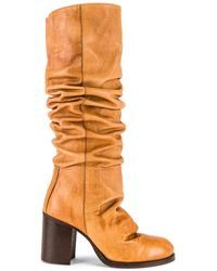 Free People Tall Slouch Boot - Brown