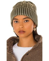 Free People Stormi Washed Cable Beanie - Green