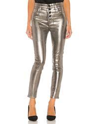 J Brand Джинсы Скинни Lillie В Цвете Galactic Silver - Metallic Silver. Размер 24 (также В 25). - Многоцветный