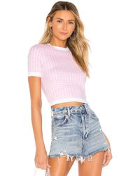 MAJORELLE Top Cropped Willa - Rose