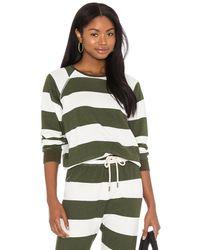 The Great Свитшот Shunken В Цвете Olive Boating Stripe - Зеленый