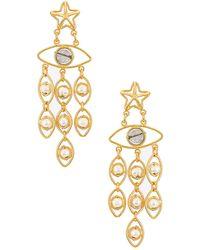 Mercedes Salazar Серьги Star Eyes В Цвете Золотой - Металлик