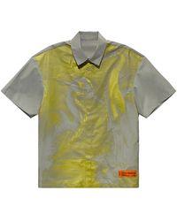 Heron Preston Рубашка В Цвете Ледяной Серый