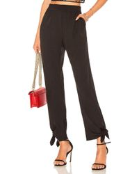 Halston - Slim Tapered Pant In Black - Lyst