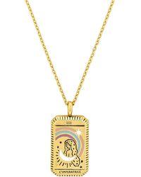 Wanderlust + Co Ожерелье L'imperatrice Tarot В Цвете Золотой - Металлик