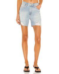 Hudson Jeans Devon バイカーショートパンツ - ブルー