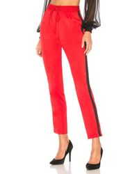 Lovers + Friends - Crop Track Pant In Red - Lyst