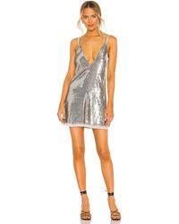 Free People Мини Платье Double Take Sequin В Цвете Серебряный Блестящий - Многоцветный