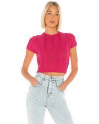 superdown Demi Knit Crop Top - Pink