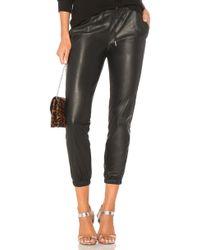n:PHILANTHROPY Scarlett Leather ジョガーパンツ - ブラック