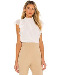 1.STATE Tranquil Ditsy Garden Sleeveless Blouse - Multicolor
