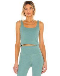 Beyond Yoga Майка Keep It Simple В Цвете Mermaid Green Heather - Зеленый