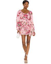 LoveShackFancy Платье Ambrosia В Цвете Pink Desert - Желтый