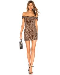 MAJORELLE Darcy Mini Dress - Brown
