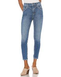 Free People Riley Seamed Skinny. Size 24. - Blue