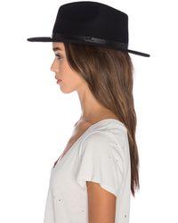 Brixton Шляпа Messer В Цвете Черный & Черный - Black. Размер Xs (также В M).