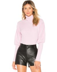 MILLY - Cashmere Puff Sleeve Sweater In Rose - Lyst