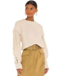 Shona Joy Camille Cable Cocoon Sleeve Jumper - Natural