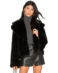 Unreal Fur Madam Butterfly ジャケット - ブラック