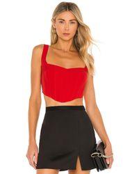 Bardot Mini Corset Bustier - Red
