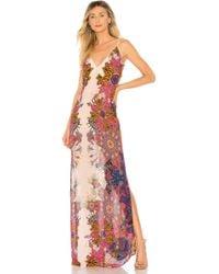 Free People - Wildflower Printed Slip Dress In Ivory - Lyst