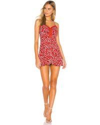 superdown - Мини Платье Briana В Цвете Красный Леопардовый - Lyst