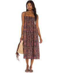Solid & Striped Платье Миди Willow В Цвете Леопардовый Принт - Коричневый