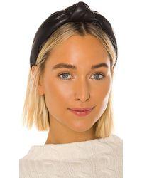 Lele Sadoughi Faux Leather Knotted Headband - Black