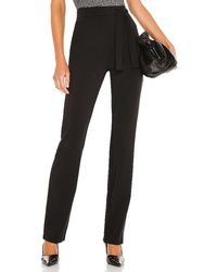 Michael Costello X Revolve Tie Waist Relaxed Pant - Black