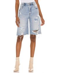 Free People Salinas Long Short - Blau