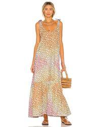 Juliet Dunn V Neck Maxi Dress - Multicolour