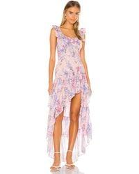 LoveShackFancy Платье С Асимметричным Подолом Winslow В Цвете Whispering Lilac - Pink. Размер 0 (также В 4,6,8). - Розовый